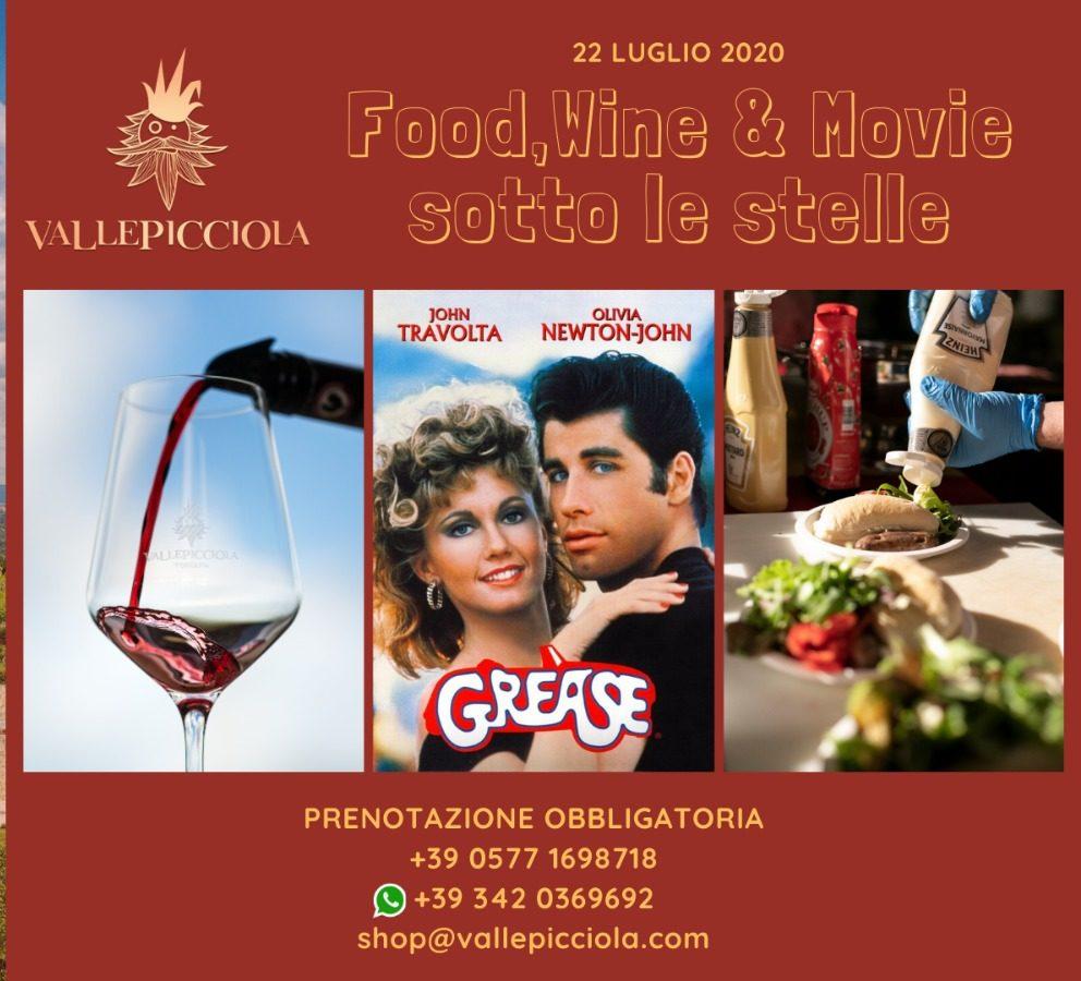 Food, Wine & Movie sotto le stelle a Vallepicciola